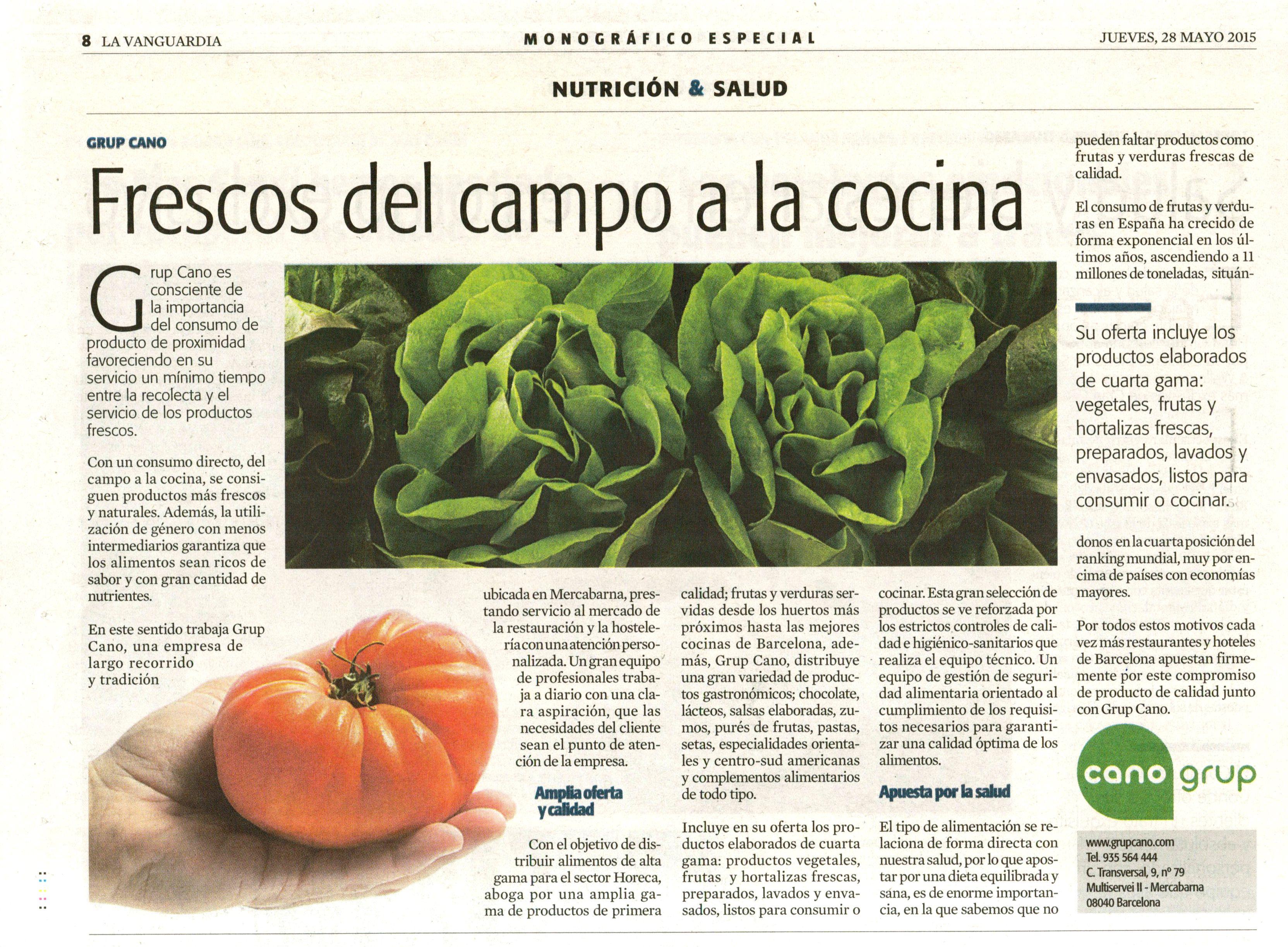 La Vanguardia 28 Mayo Grup Cano